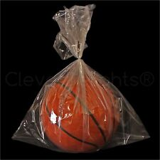 """100 Pack - 18""""x24"""" Clear Poly Bags - 2 mil - Open Top Flat Plastic Bag Food Safe"""