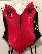 Preowned Naughty Lola Red Black Dominatrix Corset L Large Billions Halloween
