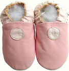 shoeszoo soft sole leather baby shoes plain pink 12-18m S