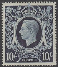 GB KGVI 10/- Dark Blue SG478 Ten Shillings George VI 1939 Mint Hinged Stamp