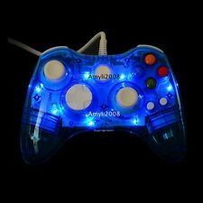 AfterGlow Blue Wired USB Remote Controller Gamepad For Microsoft Xbox 360 & PC