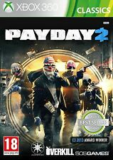 Payday 2 - Xbox 360 Classics - Official UK Brand New & Sealed PAL - FREE UK P&P