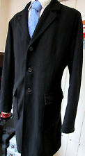 CP Company Italy Black Wool mix Revere Collar Coat UK 44 XL EU 54 Dry Cleaned