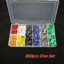 800pcs Car Electrical Wire Crimp Connector Terminal Insulated Pin End Terminal