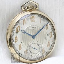 Gold 1932 WALTHAM 15 Jewel Mechanical Pocket Watch 12s Antique USA Two Tone