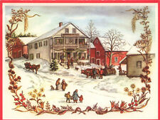 1981 Large MINT Vintage Tasha Tudor Irene Dash Christmas Card Village #FF05-93R