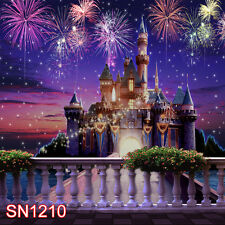 CASTLE NIGHT 10x10 FT CP PHOTO SCENIC BACKGROUND BACKDROP SN1210
