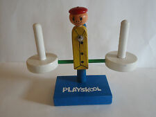Vintage Wooden Ring Scale Balancing Learning Toy No Rings Playskool Man