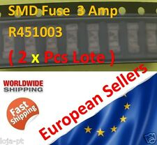 2x Unit - 3Amp SMD Fuse R451003 Fast-Acting Fuse 1808 Marking 3A - Fast Ship