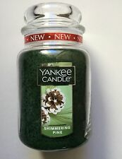 Yankee Candle SHIMMERING PINE 22 oz. JAR NEW HOLIDAY 2016 HTF SCENT