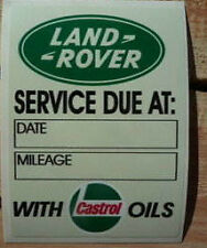 Land Rover Series 2 2a 3 Service due at ... with Castrol Oils Sticker Decal