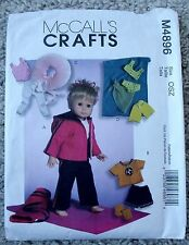 """NIP McCalls 4896 Pattern for 18"""" Doll Clothes Outfits - Jacket, Leotard, Tutu"""