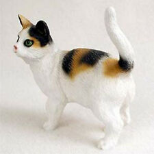 SHORTHAIRED CALICO CAT Figurine Statue Hand Painted Resin Gift Standing
