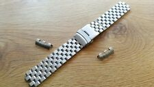 NEW SEIKO 22MM STAINLESS STEEL BRUSH GENTS WATCH STRAP FOR VARIOUS SEIKO WATCHES