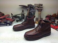 DUCK HEAD BRAZIL BROWN DISTRESSED LEATHER LACE UP HIKING TRAIL BOSS BOOTS 12 D
