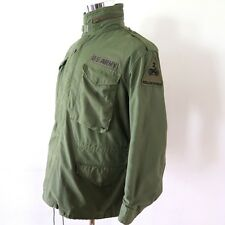 VINTAGE US ARMY 1980 M-65 M65 FIELD JACKET 2nd ARMORED DIV HELL ON WHEELS SMALL
