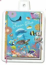 Diary with Lock & Keys Design Lenticular Ocean Blue
