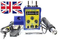 GAOYUE 878D+ 220V SMD Digital Hot Air Rework Station+Solder Station 3pin UK Plug