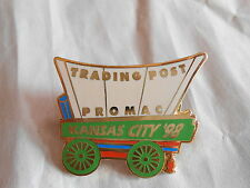 Vintage 1998 Trading Post Kansas City Promac Covered Wagon Advertising Pin