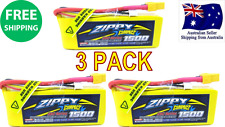 3 Pack ZIPPY COMPACT 1500mAh 3S 25C 11.1v XT60 LIPO Battery RC Plane Helicopter