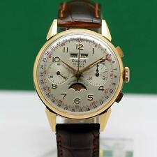 1940's DREFFA CHRONOGRAPH FULL CALENDAR MOONPHASE 18K SOLID GOLD MEN'S WATCH