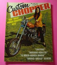 "CUSTOM CHOPPER MAGAZINE  JUNE/1971...750 ""MAXI"" CHOPPER KITS...""LADYBUG"""