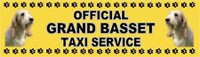 GRAND BASSET GRIFFON VENDEEN OFFICIAL TAXI SERVICE Dog Car Sticker  By Starprint
