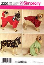 Simplicity Sewing Pattern 2303 Extra Large Dog clothes Coat Hoodie Sweater XL