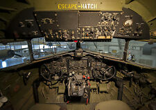 8x12 Vintage Photo The cockpit of the C-47A Skytrain, Turf and Sport Special