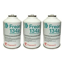 DuPont Chemours Refrigerant Freon 134 134a AC 3 Cans (12oz)