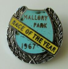 MALLORY PARK RACE OF THE YEAR 1967 VINTAGE ENAMEL PIN BADGE MOTOR CYCLE RACING