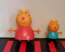 Peppa pig figures mummy an candy cat!