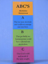SOBRIETY BOOK MARK - ABC'S- RECOVERY