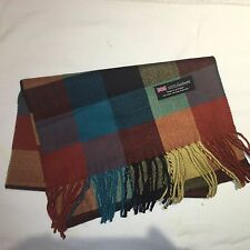 100% Cashmere Winter Scarf Scarve Scotland Warm Checkered Multi-Color Wrap Shawl