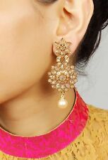 Ethnic Bollywood Antique Indian Pearl Earrings Jhumka Jhumki Women Jewelry 7220