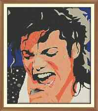 Michael jackson 1 (40 colours) CROSS STITCH CHART 12.0 X 10.4 Inches