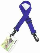 Lot of 4 GROOMA SnappaStrap Adjustable Nylon Utility Straps w/ Snaps, Blue
