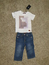 7 For All Mankind Baby Girls 2 Piece Outfit (Top & Jeans) - Size 24 Months - NWT