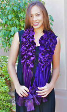 My Pretty Angel Clothing Vintage Victorian Lillie Scarf Wrap In Purple 91272