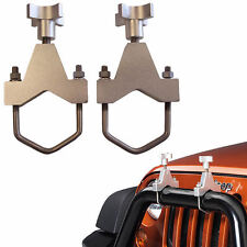 Pair of Bumper Roll Cage Mount Brackets for Hi Lift High Farm Jack 4x4 Recovery