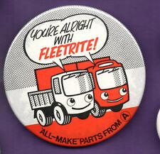 You're Alright With Fleetrite - All-Make Parts From A  - Button Badge 1980's