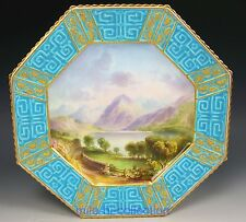 COPELAND SPODE HANDPAINTED LOWESWATER CUMBERLAND SIGNED W. BIRBECK HEXAGON PLATE
