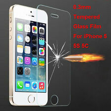 New Explosion Proof Premium Tempered Glass Screen Protector for iPhone 5 5S 5C A