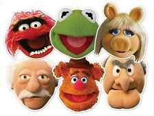 The Muppets Variety Six 6 Pack Fun CARD Party  Masks with Miss Piggy & Kermit