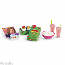 American Girl Sleepover Accessories new Set for Dolls Popcorn Game For Grace