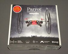Parrot MiniDrones Rolling Spider Red Drone RC Vehicle w HD Camera, Extra Battery