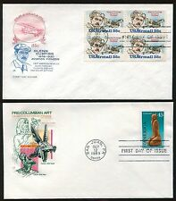 Nice Lot of 4 Different 1980's Airmail FDC's House of Farnam Cachets  UA FD4423