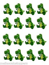16 x DINOSAURI commestibili Cake & decorazioni per cupcake wafer commestibile