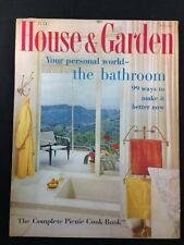 HOUSE AND GARDEN MAGAZINE,VINTAGE,July 1958