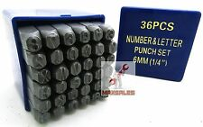 """36 Pc 1/4"""" Letter & Number Stamping Set A-Z 0-9 Punch Metal Plastic Leather Wood"""